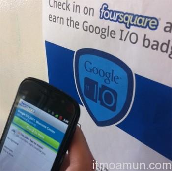 Foursquare, NFC, Google I/O