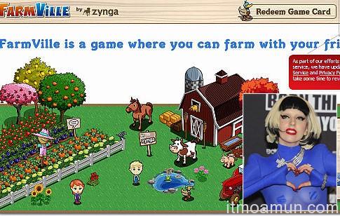 gaga Facebook FarmVille