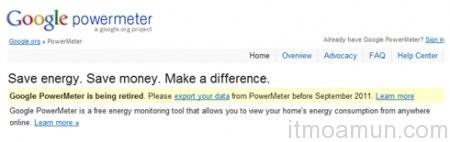 Google ปิดบริการ, Google PowerMeter