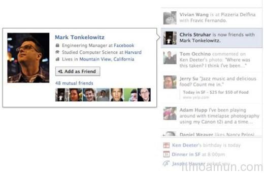 Facebook, คุณสมบัติใหม่