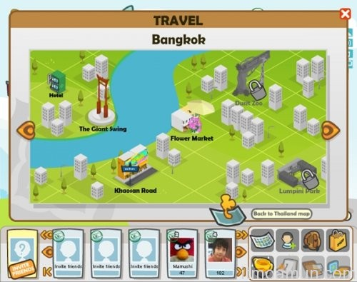 Smile Land, เกม Facebook ไทย, การท่องเที่ยวแห่งประเทศไทย