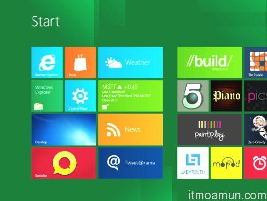 Windows 8, เมนู Start