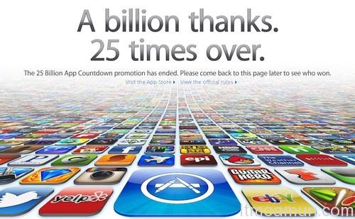 AppStore, Apple AppStore, 25 Billion Apps