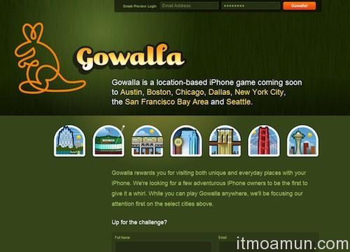 Gowalla, Facebook, โกวาลลา,เฟซบุ๊ก, การควบรวมกิจการ, เช็คอิน